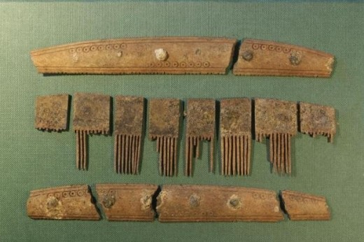 """This comb, found in a Viking grave, is inscribed with the runes for """"comb."""""""