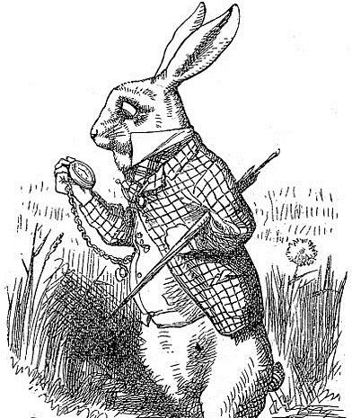 The White Rabbit from 'Alice's Adventures in Wonderland'