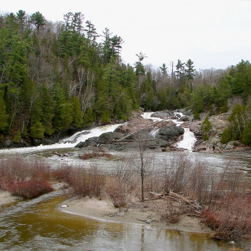 Chippewa River and falls near Highway 17, Ontario, Canada