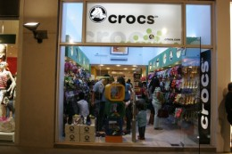 A sea of color awaits at the CROCS outlet store!