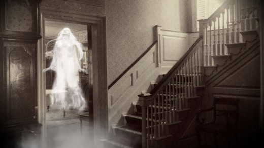 A typical haunting of a house by a deceased human spirit aka a ghost.