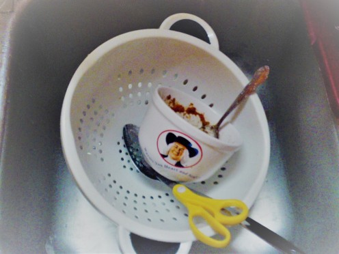 Hand wash big dishes like this colander. It will save room in the dishwasher.
