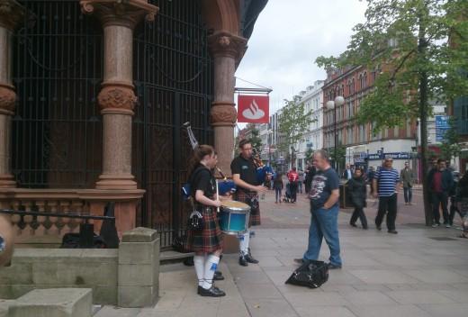Street Performers in Belfast, Ireland