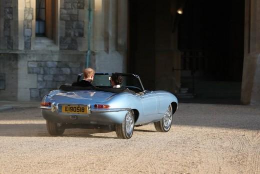 1968 Vintage Jaguar. Notice the license plate