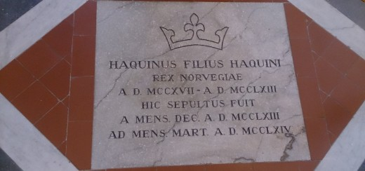 Translation: Haquinus the son of Haco, King of Norway