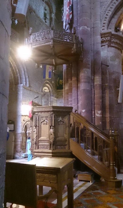 Pulpit inside St. Magnus Cathedral