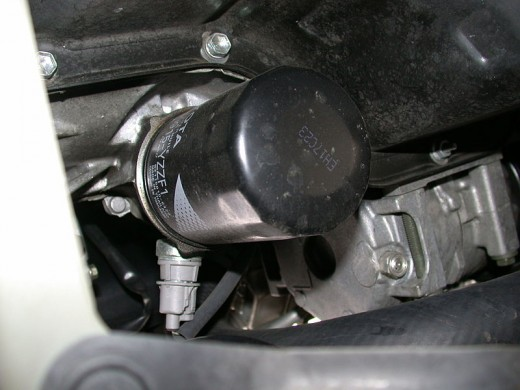 Replace the oil filter when changing the engine oil.