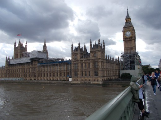 Big Ben and the Houses of Parliament.