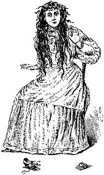 An artist's drawing of Betsy Bell, done around 1894 and published in M. V. Inram's book about the Bell Witch.