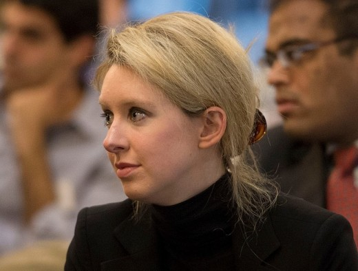 Elizabeth Holmes, former CEO and founder of Theranos, a healthcare technology company.