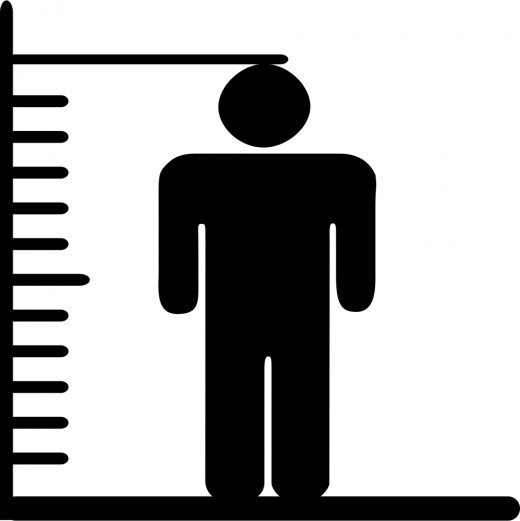 A stadiometer is a tool used to measure height. If you don't have access to one, standup straight against the wall. Have someone else put a mark on the wall at the top of your head. Then measure the distance between the floor and the mark.