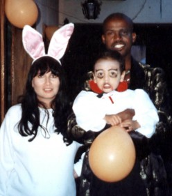 Me in Guatemala, Halloween, 1999. My wife is pregnant with my daughter.