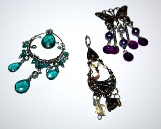 My old earrings that have lost their pairs.