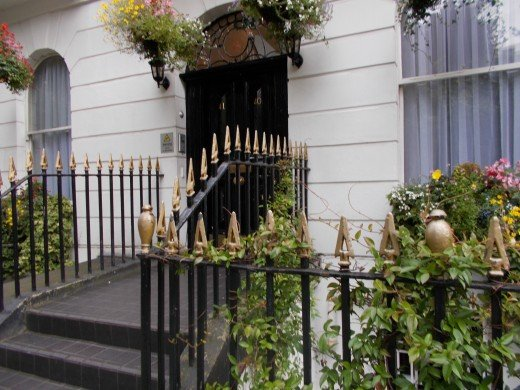 The door leading into where my flat was. How beautiful!