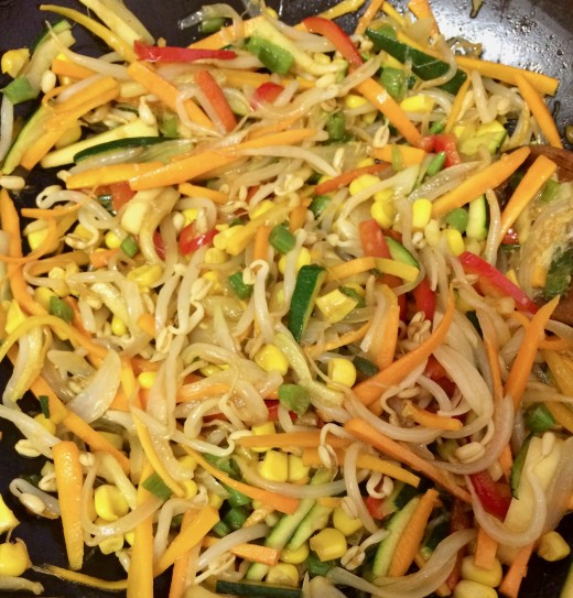 Vegetable Stir Fry with Ginger