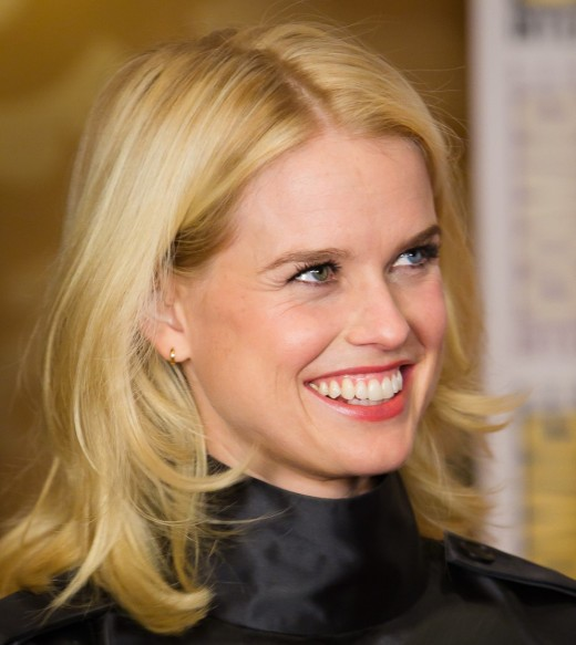 The English actress Alice Eve has one blue and one green eye