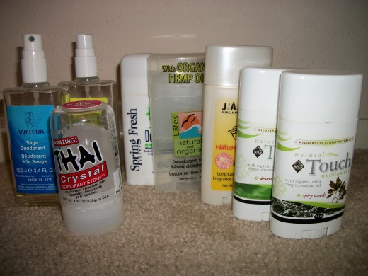 Variety of Natural Deodorants