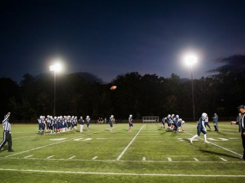 A typical Friday Night Football scene