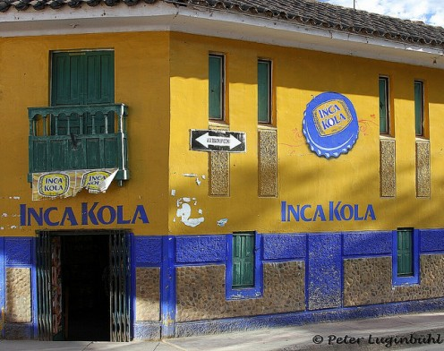 Inca Kola - available everywhere in Peru!