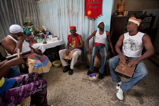 A Santeria ceremony known as Cajón de Muertos. Havana, Cuba, 2011.