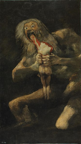 The cannibal's favorite work of art, Saturn Eating His Son, by de Goya