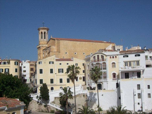 The Santa Maria Cathedral overlooks the harbour