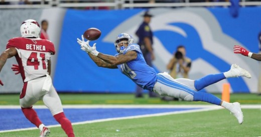 Kenny Golladay sprawls out for his second touchdown of his thrilling NFL debut.
