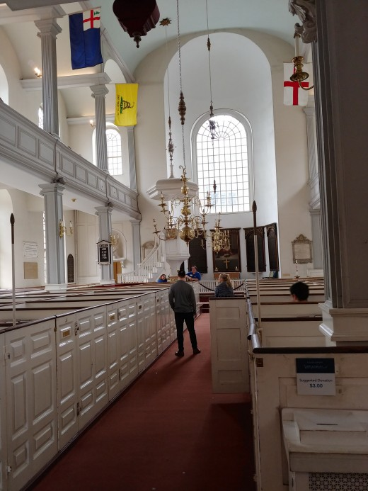 Inside the Old North Church