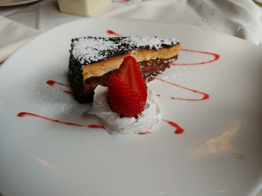 Dessert at Dolce Vita Ristorante. Indescribably good!
