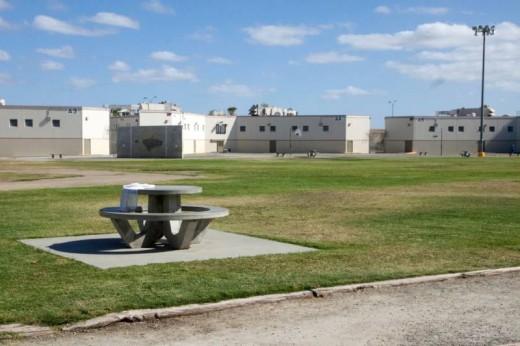 A typical prison yard