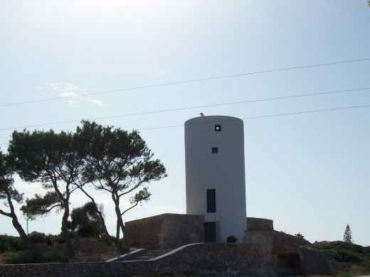 All the old windmills of Minorca are being restored. This is the one also shown above but only partially restored