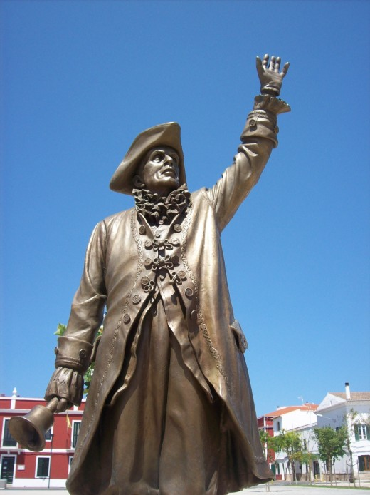 Statue of a town crier