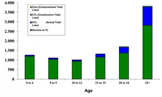 Maritime Accidents by Age of Ships