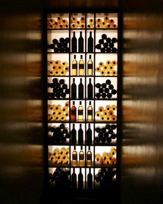 Modern cellar with backlit.
