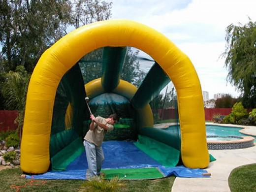 inflatable golf range