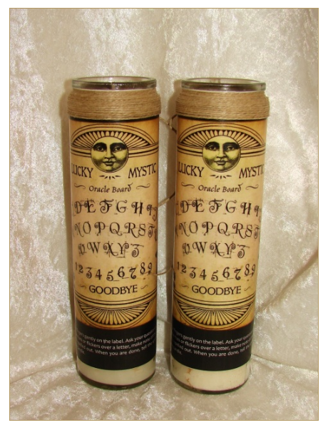 Lucky Mystic Oracle Board Candles from Creole Moon