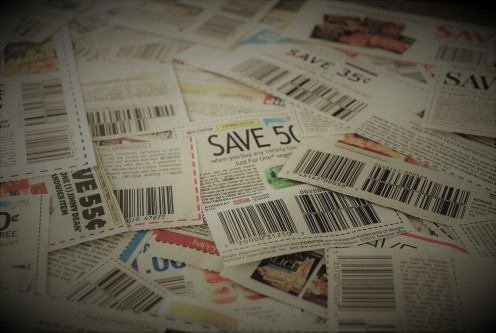 Gather your coupons so you can start saving money on groceries!