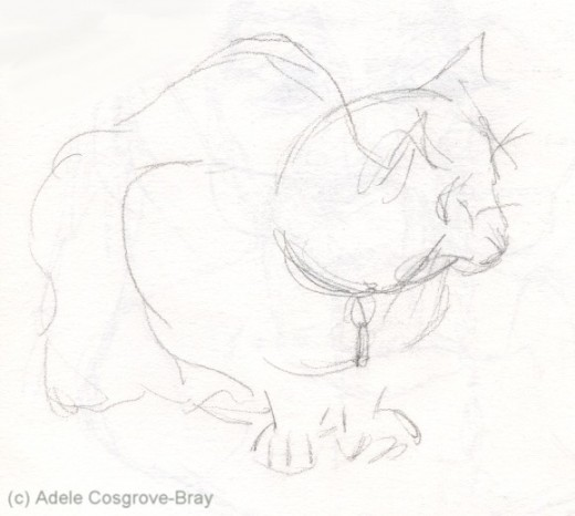 Just a few fluid lines, but this sketch captures the essence of a cat.