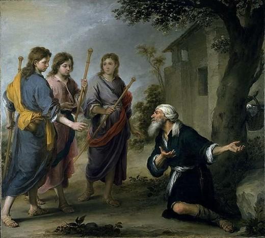 Abraham Greets Angels