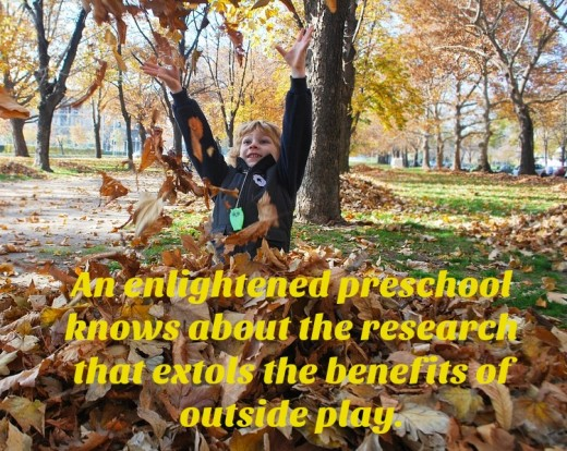 Boys need a preschool that celebrates outdoor play. Contrary to what some moms (and even teachers) believe, it's not a waste of time. It has huge benefits: physically, emotionally, and spiritually.