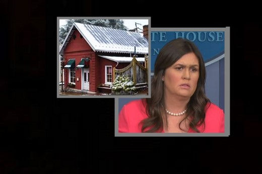Sarah Huckabee Sanders booted from the Red Hen in Virginia for her affiliation with Trump.