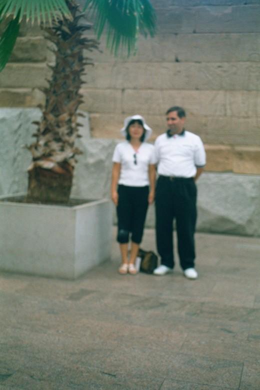 Outside the Temple of Dendur, September 2001.