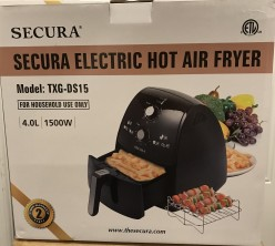 Review of the Secura Electric Hot Air Fryer.