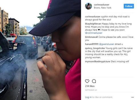 Corinna Slusser's last cryptic post on Instagram.