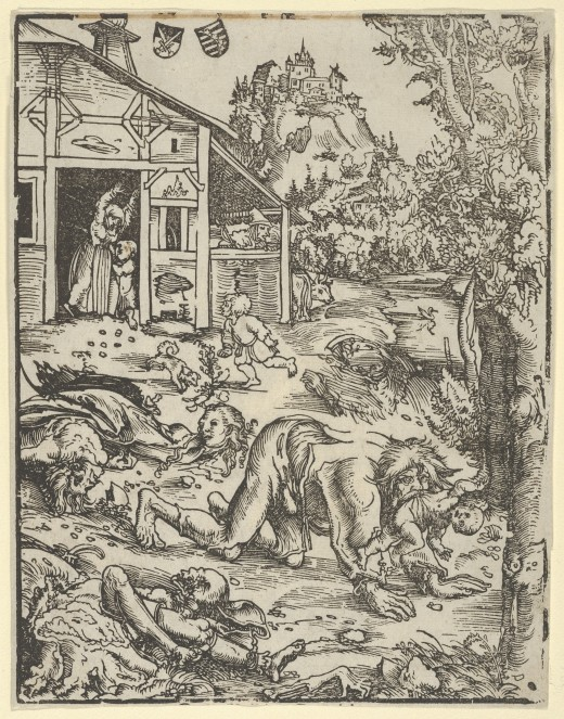 """The Werewolf or the Cannibal"" by Lucas Cranach the Elder"