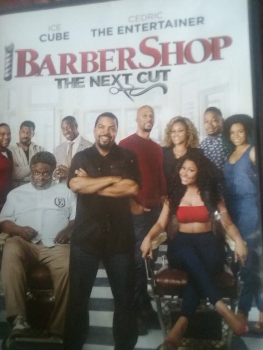Barbershop: The Next Cut DVD cover - Barbershop: The Next Cut the movie stars Ice Cube, Eve, Common, Regina Hall, Nicki Minaj, Cedric the Entertainer, Sean Patrick Thomas and others. Below is a movie review of Barbershop: The Next Cut the movie