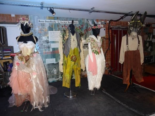 The Other Place is the home of the RSC costume hire. A Midsummer Night's Dream costumes were on display in The Other Place at the time of our visit.