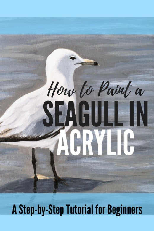 Learn how to paint a seagull in acrylic.