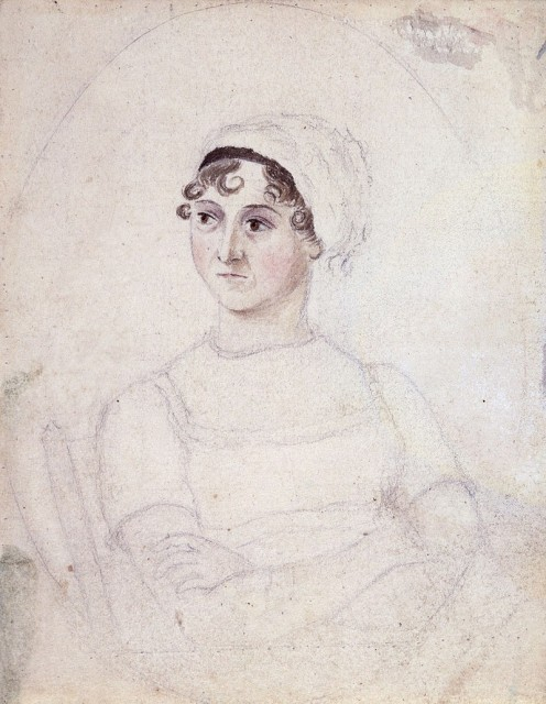 Drawing of Jane Austen by her sister Cassandra