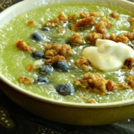 Honeydew Blueberry Soup perfect for those hot summer days